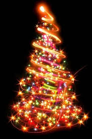 Xmas Tree Lights On The Black Background Stock Photo Picture And Royalty Free Image 16564354