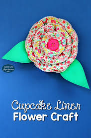How To Make A Cupcake Liner Flower Craft