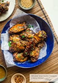 Whole30 Sticky Pineapple 5 Spice Slow Cooker Chicken Wings