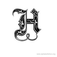 Fancy Letter H Designs Letter Master