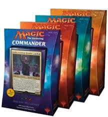 Magic The Gathering Edh Deck Box by Commander 2017 Set Of 4 Commander 2017 Magic The Gathering