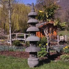 Lanterne Japonaise Pagode Zen En Pierre De Lave 150 M Achat