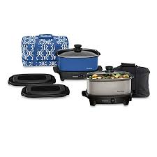 Bed Bath Beyond Pressure Cooker by West Bend Versatility 5 Quart Oblong Slow Cooker With Tote Bed