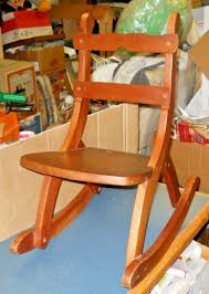 VINTAGE WOOD ROCKING CHAIR CHILD'S TODDLER AMISH WELL BUILT Sold Antique Mission Style Rocking Chair Refinished Maple And Leather Adams Northwest Estate Sales Auctions Lot 12 Vintage Wood Mini Rocker 3 Vintage Wood Carved Rocking Chairs Incl 1 Duck Design Seat Tell City Company Love Seat Projects In Childs Wooden Refurbished Autentico Bright White Victorian W Upholstered Back Wooden Chair Ldon For 4000 Sale Shpock With Patchwork Design On Backrest Batley West Yorkshire Gumtree Child Doll Red Checked Fabric