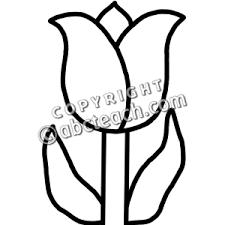Tulip Clip Art Black And White