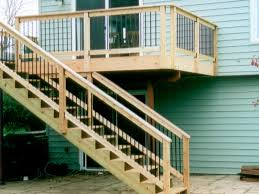 Deck Exterior Stair Railings — Home Ideas Collection : To Replace ... Metal And Wood Modern Railings The Nancy Album Modern Home Depot Stair Railing Image Of Best Wood Ideas Outdoor Front House Design 2017 Including Exterior Railings By Larizza Custom Interior Wrought Iron Railing Manos A La Obra Garantia Outdoor Steps Improvements Repairs Porch Steps Cable Rail At Concrete Contemporary Outstanding Backyard Decoration Using Light 25 Systems Ideas On Pinterest Deck Austin Iron Traditional For