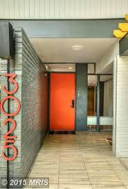 Mid Century Front Doors Love This Grey Green Hue With The Red
