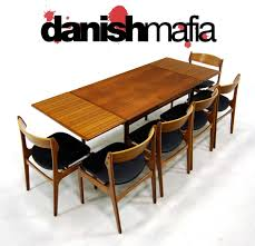 MID CENTURY DANISH MODERN TEAK DINING TABLE & CHAIR SET   Danish Mafia Vintage Danish Modern Ding Chairs China Outdoor Import Teak Wood Table And Chair Set Warm Nordic Balloon Lounge Chair Finnish Design Shop Fifties Wagner Lean Back Teak Amber Niels Mller Ding Table Model 15 Jl Moller Home Sejling Skabe Sideboard C1960 The Conran Six Arne Hovmand Olsen Room For Rosewood Sante Blog 1950s Of Designed By Hans By Mid Century Fniture Sofa Of 8