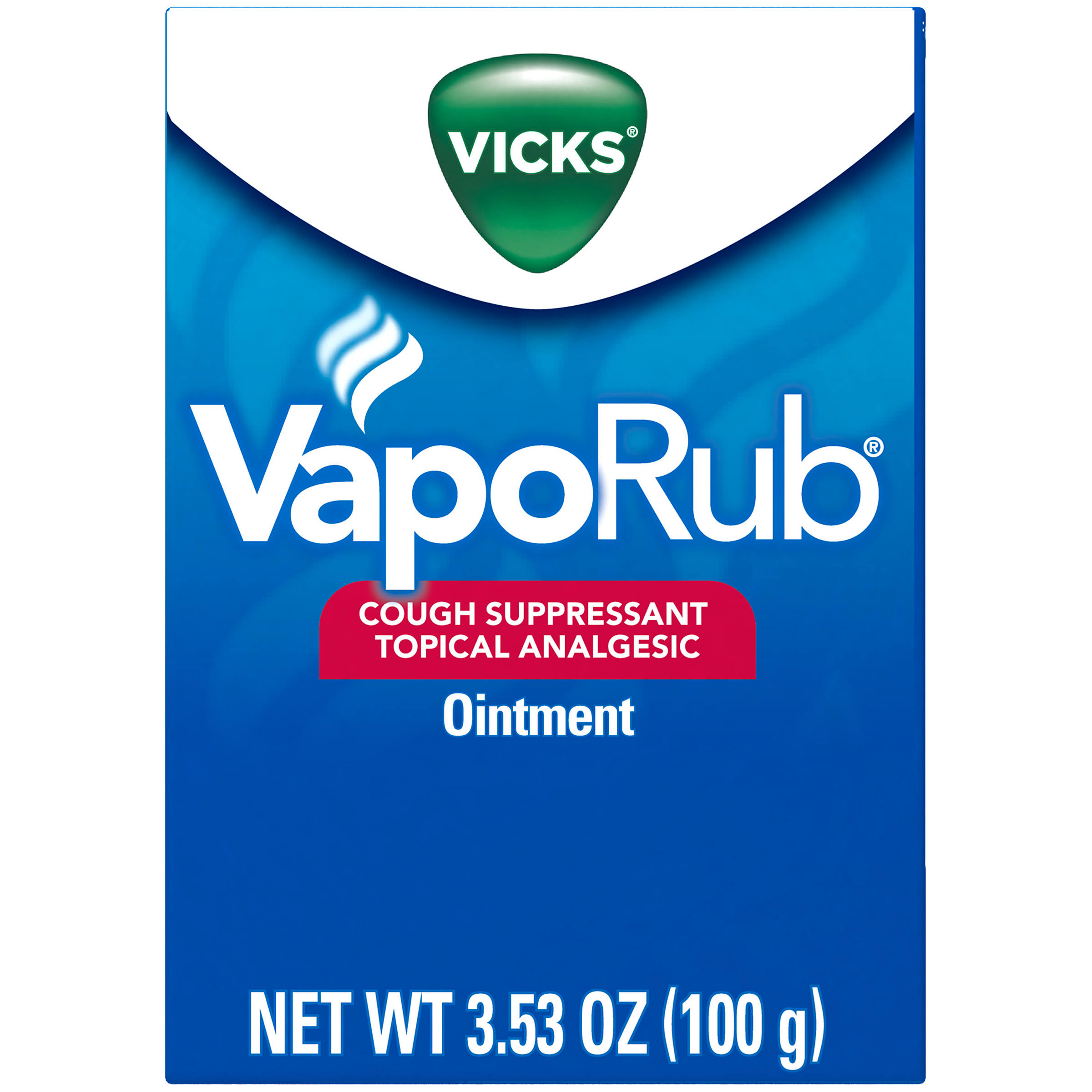 Vicks Vapor Rub Cough Suppressant Topical Analgesic Ointment - 3.53oz
