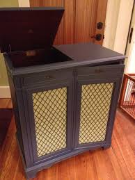 Super Cool Vintage Record Player Cabinet Interior Decor With