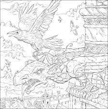 Messenger Ravens Illustration By Adam Stower For A Game Of Thrones Colouring Book