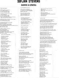 Lyrics - Sufjan Stevens - Carrie & Lowell - Album On Imgur ... Legacy Of Bloody Election Day Lingers In Florida Town Its About Time Luther Barnes The Red Budd Gospel Choir So 31 Best Bands Images On Pinterest In This Moment Music And Love Poems Academy American Poets Strs_web3png Weminster Cfession Funk 538 Quotes For Life Love Thoughts 345 Race Identity Representation Johnkatsmc5 Bread And Dreams Amaryllis 1971 Uk Acid Folk 278 Words Beautiful Words Earth Plan May 2017