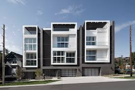 100 Townhouse Facades 18th Boulder Townhomes Meridian 105 Architecture ArchDaily