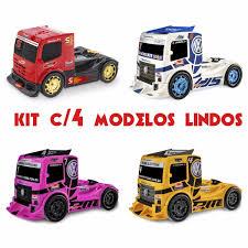 100 Formula Truck Kit 4 Caminho Infantil Frmula Usual Brinquedo Oferta R