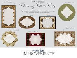 Interesting Dining Room Rug Round Table And Dimensions For Area