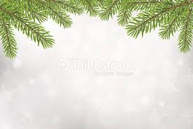 Christmas Tree Top Frame Isolated On Silver Blurred Background Vector Art