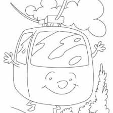 Cable Car Coloring Page Transportation Pages Of