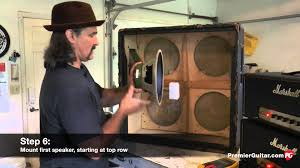 Custom Guitar Speaker Cabinets Australia by Diy How To Install Speakers In A 4x12 Cab Part 1 Youtube