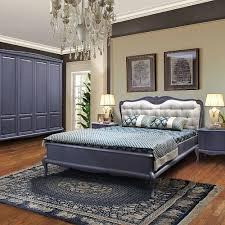 mokko schlafzimmer komplett set modernes barock eichenmassiv grau