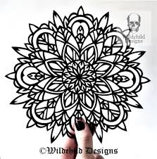 Mandala Paper Cutting Template