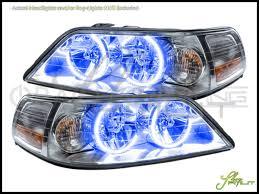 05 11 lincoln town car led dual color halo rings headlights bulbs