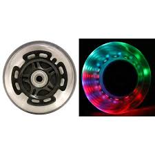 LED SCOOTER WHEELS ABEC9 BEARINGS For RAZOR SCOOTERS 100mm LIGHT UP Black 2 Pack
