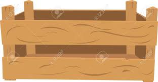 A Vector Cartoon Representing A Wooden Crate The Front Part