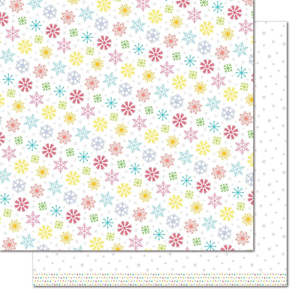 Lawn Fawn LF1737 White Christmas 12x12 Patterned Paper - 12 Pack
