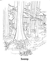 Forest Coloring Pages Printable Rainforest Mushroom To Print Pinterest Enchanted Habitat Flowers