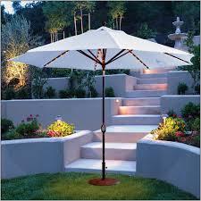 Solar Lighted Rectangular Patio Umbrella by Decorations Pretty Lighted Patio Umbrella For Enchanting Patio