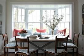 Bay Window In Dining Room Sweet Featuring Built Bench Filling Accented