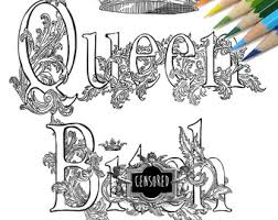 Queen Bith Swear Word DIY Print At Home Digital Download Colouring Page Adult