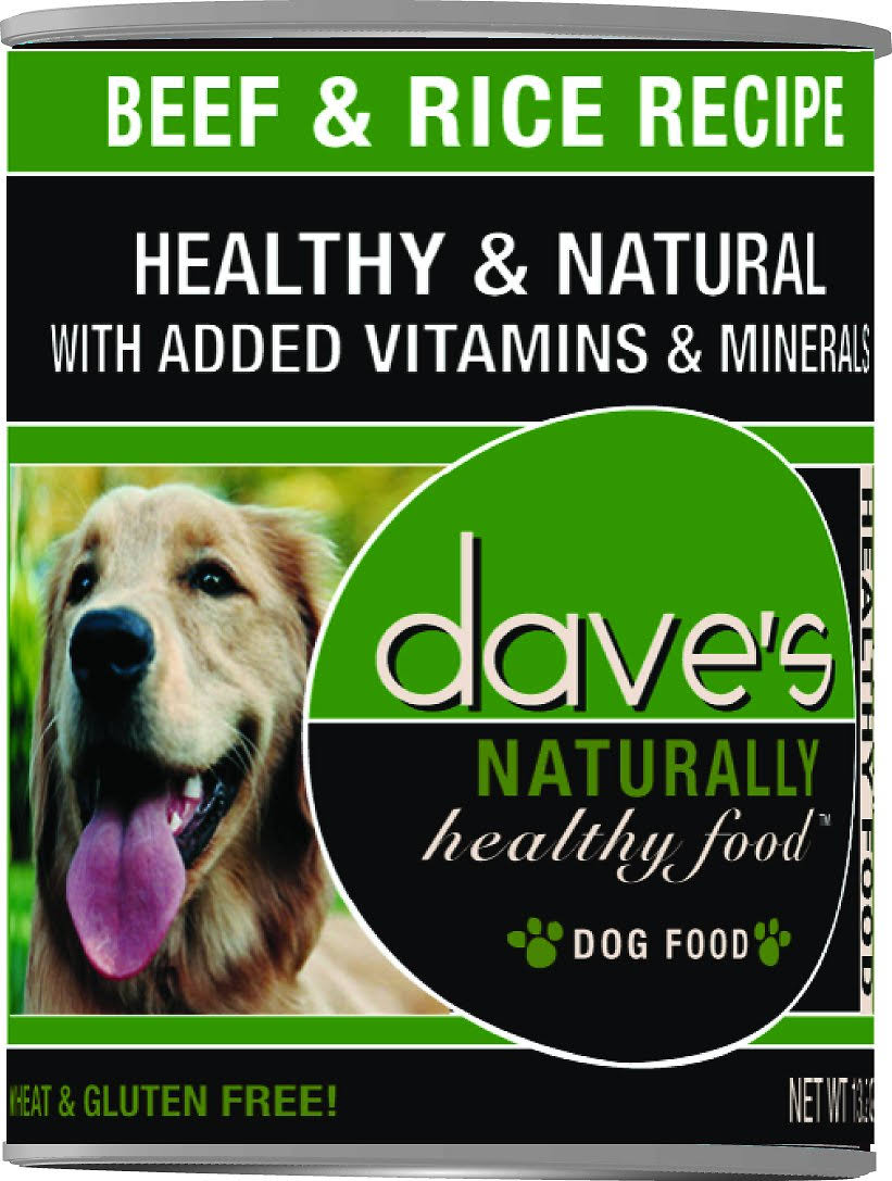 Dave's Naturally Dog Food - Beef and Rice