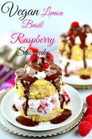 Vegan Lemon Basil Raspberry Shortcake TEXT