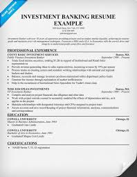 Investment Banking Consulting Resume
