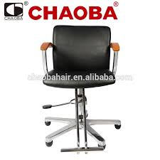 hair cut chair with wooden armrest hairdressing chair with
