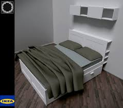 IKEA Brimnes bed 3D Model in Bedroom 3DExport