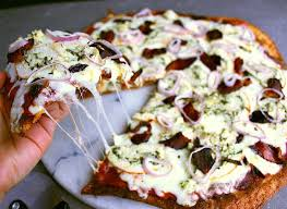 Cover With The Mozzarella Sliced Chicken Bacon And Shallots Continue To Bake As Per Fathead Pizza Crust Instructions
