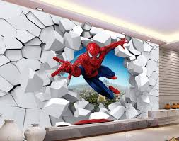 3D Brick Wall Cartoon Decoration Painting Background Mural Within Recent Art