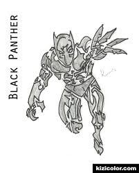 Marvel Movie Black Panther Page By Alekkrris Coloring