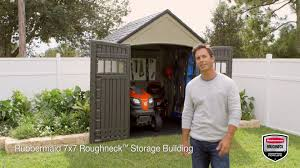 Roughneck 7x7 Shed Instructions by Rubbermaid 7 U0027 X 7 U0027 Resin Storage Building
