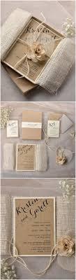Invitations Burlap And Purple Wedding