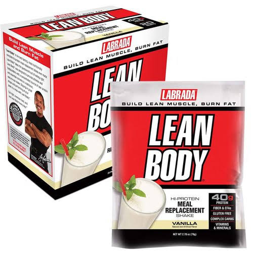 Labrada Nutrition Lean Body Meal Replacement Shake - Vanilla Ice Cream, 20 Packets