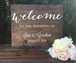Rustic Wood Wedding Sign Welcome Decor Country