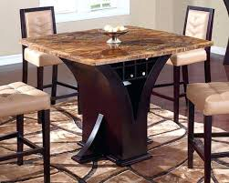Pub Style Dining Table Marble Global Furniture Square Top Bar With