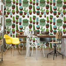 details zu tapete fototapete für wohnzimmer pflanzen grüner kaktus und sukkulenten muster