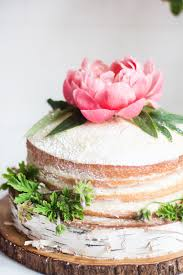 Rustic Naked Cakes With Peonies