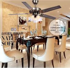 Decorative Ceiling Fans For Dining Room 48 Inch Iron Leaf Lights Fan Living