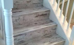 Luxury Vinyl Plank Flooring Stairs Wooden Floor Info On Stair Nose