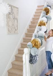 DIY Festive Paper Garland Eid DecorationsChristmas Decorations For StaircaseHouse Party